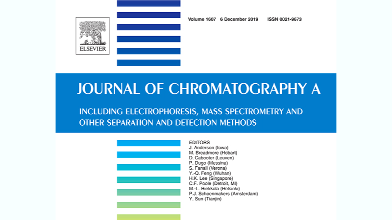 New article accepted in Journal of Chromatography A.